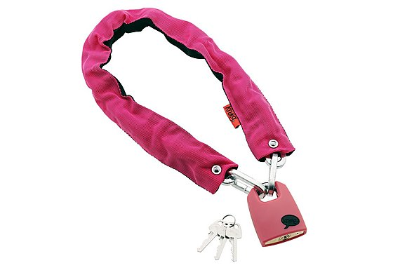 Knog Straight Jacket Skinny Chain and Lock Pink