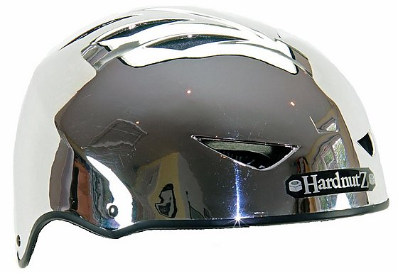 HardnutZ Auto Chrome Street Bike Helmet - Small (51-54cm)