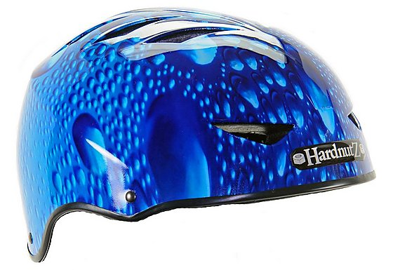 HardnutZ Blue Rain Street Bike Helmet - Medium (54-58cm)