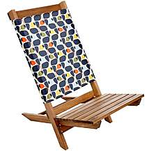 image of Olive and Orange by Orla Kiely Wooden Festival Chair