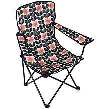 image of Olive and Orange by Orla Kiely Folding Chair - Navy