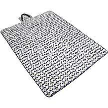 image of Olive and Orange by Orla Kiely Family Picnic Rug