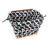 Olive and Orange by Orla Kiely Bike Basket Liner - Olive