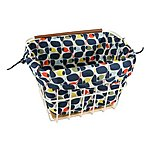 image of Olive and Orange by Orla Kiely Bike Basket Liner - Olive