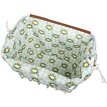 image of Olive and Orange by Orla Kiely Bike Basket Liner - Duck Egg