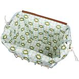 Olive and Orange by Orla Kiely Bike Basket Liner - Duck Egg