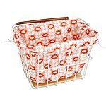 image of Olive and Orange by Orla Kiely Bike Basket Liner - Pink