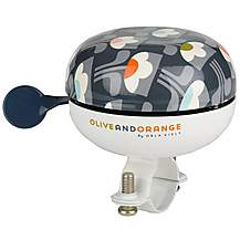image of Olive and Orange by Orla Kiely Classic Bike Bell - Tulip