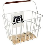 image of Olive and Orange by Orla Kiely Wire Bike Basket - Cream