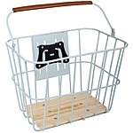 image of Olive and Orange by Orla Kiely Wire Bike Basket - Duck Egg