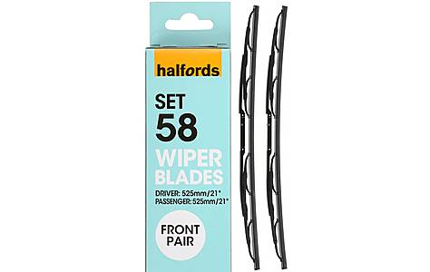 image of Halfords Set 61 Wiper Blades - Front Pair