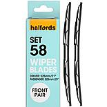 Halfords Wiper Blade Set 61 - Standard