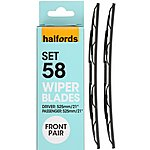 image of Halfords Wiper Blade Set 61 - Standard
