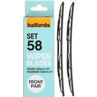 Halfords Set 48 Wiper Blades - Front Pair