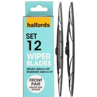 Halfords Set 12 Wiper Blades - Front Pair