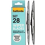 image of Halfords Set 28 Wiper Blades - Front Pair