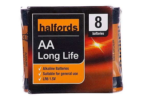Halfords AA x 8 Batteries