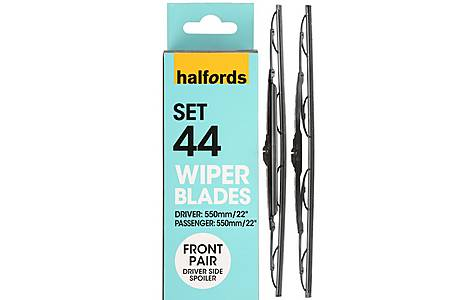 image of Halfords Set 44 Wiper Blades - Front Pair