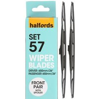Halfords Set 57 Wiper Blades - Front Pair