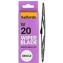 Halfords W20 Wiper Blade - Single