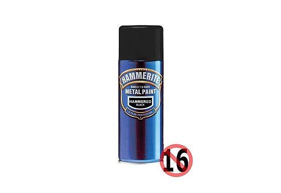 Hammerite Direct to Rust Metal Paint Hammered Black 400ml