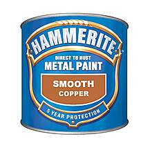 image of Hammerite Direct to Rust Metal Paint Smooth Copper 250ml