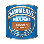 Hammerite Direct to Rust Metal Paint Smooth Copper 250ml