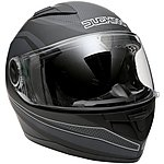image of Duchinni D705 Black/Gunmetal Full Face Motorcycle Helmet