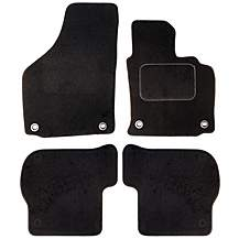 image of Halfords (SS1388) VW Golf 5 Car Mats (04-07/oval clips) BLK