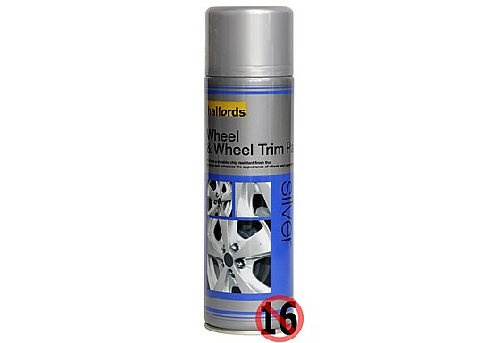 Halfords Wheel & Wheel Trim Paint Silver 500ml