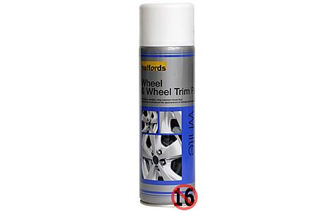 image of Halfords Wheel & Wheel Trim Paint White 500ml