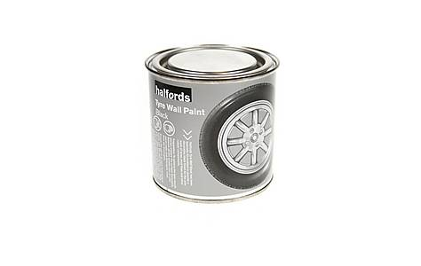 image of Halfords Tyre Wall Paint Black 250ml