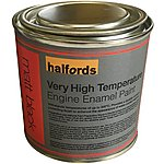 image of Halfords V High Temperature Engine Enamel Paint Matt Black 250ml