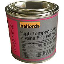 image of Halfords High Temperature Engine Enamel Paint - Gloss Black 250ml