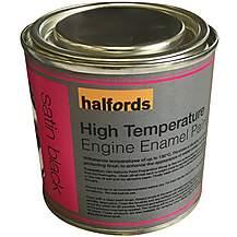 image of Halfords High Temperature Engine Enamel Paint - Satin Black 250ml