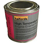 image of Halfords High Temperature Engine Enamel Paint - Satin Black 250ml