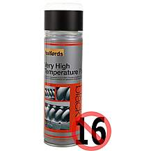 image of Halfords Very High Temperature Paint Black 300ml