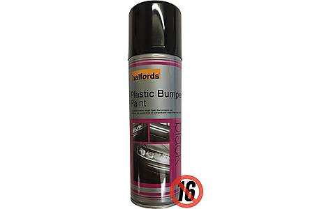 image of Halfords Plastic Bumper Paint Black 300ml