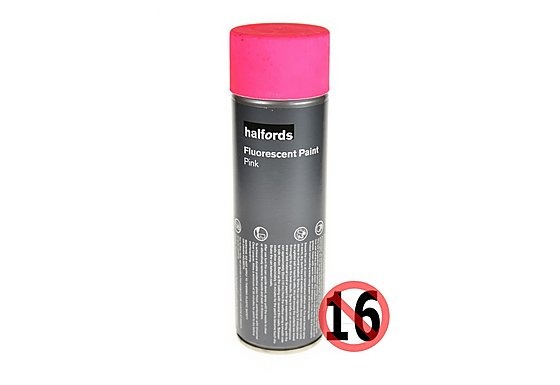 Halfords Fluorescent Paint Pink 300ml