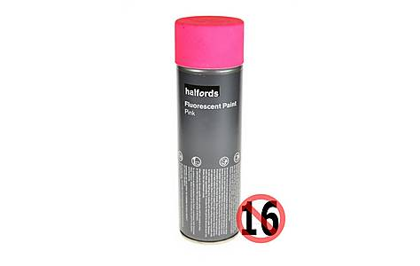 image of Halfords Fluorescent Paint Pink 300ml