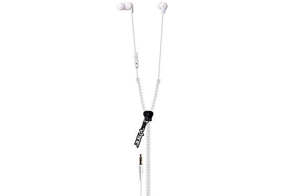 Vibe Zip Earphone Space White