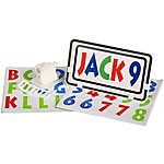 image of Bike Number Plate - Blue, Green & Red