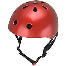 image of Kiddimoto Metallic Red Helmet