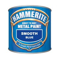 Hammerite Direct to Rust Metal Paint Smooth Finish Blue 250ml