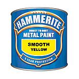 Hammerite Direct to Rust Metal Paint Smooth Yellow 250ml