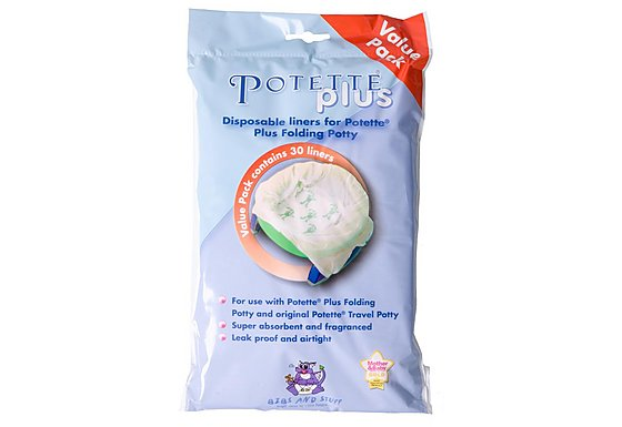 Potette Plus Travel Potty Value Liners x30