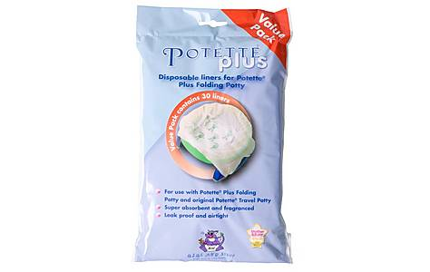 image of Potette Plus Travel Potty Value Liners x30