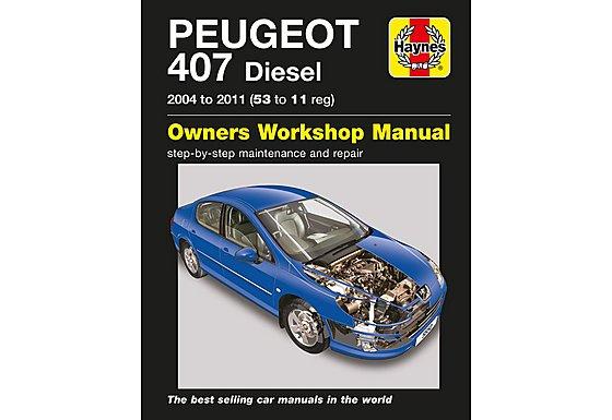 Haynes Peugeot 407 Diesel (04 - 11) Manual