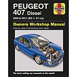 image of Haynes Peugeot 407 Diesel (04 - 11) Manual