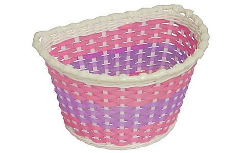 image of Girls Pink Woven Bike Basket